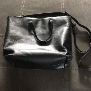 Madewell zip top transport Carryall tote